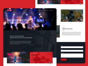 Swiss Live Stream website design by freelance website designer Christine Wilde