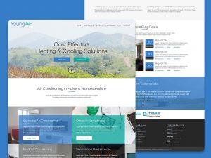 Young Air marketing website design created by Christine Wilde Freelance WordPress Designer