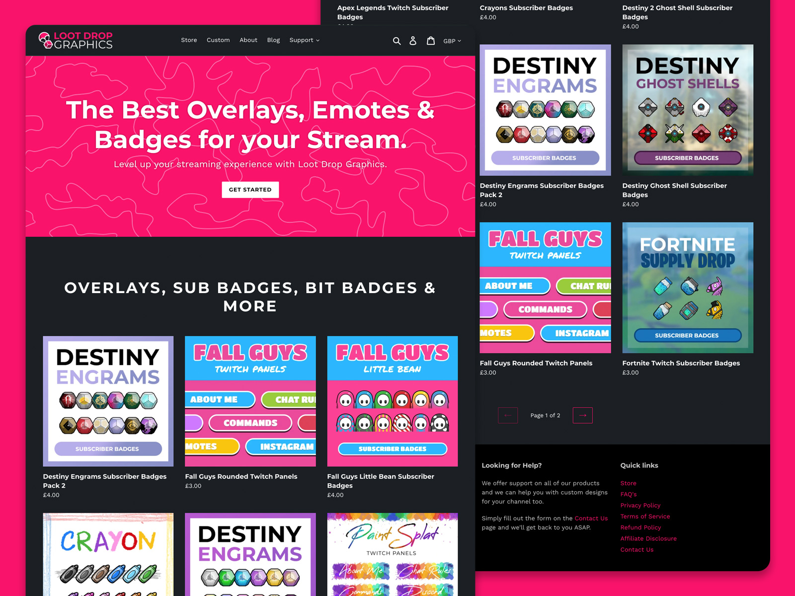 Loot Drop Graphics - Graphics for content creators and streamers designed by Christine Wilde