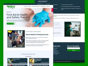 Medicot ecommerce wordpress website designed by freelance website designer Christine Wilde